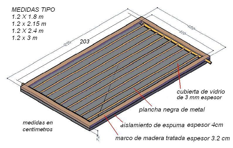 Paneles Solares Planos Convencionales Para Calentar Agua Planos De Construccion